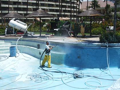 Pool Surfacing Stripping